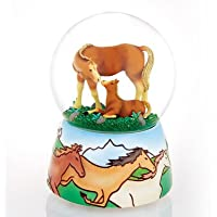 Mother & Baby Horse On The Range by Twinkle Waterglobes