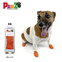 PAWZ パウズ ドッグブーツ XSサイズ 4枚入り(オレンジ)