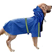 NancyMissY 8サイズ大ビッグ犬レインコートペットアパレル犬服犬レインコートペットジャケットレインペット防水コート犬反射雨服