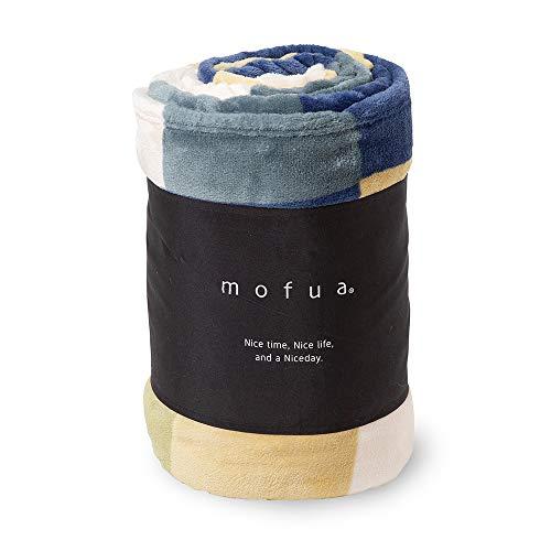 mofua(モフア) 毛布 シングル ふんわりあったか 静電気防止加工 マイクロファイバー 1年間品質保証 洗える 140×200cm チェック柄 グリーン 500001C9
