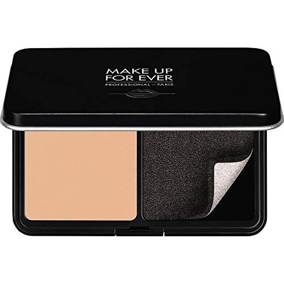 愛されし者肥料ピル[MAKE UP FOR EVER ] パウダーファンデーション11GののR230をぼかし、これまでマットベルベットの肌を補う - アイボリー - MAKE UP FOR EVER Matte Velvet Skin Blurring Powder Foundation 11g R230 - Ivory [並行輸入品]
