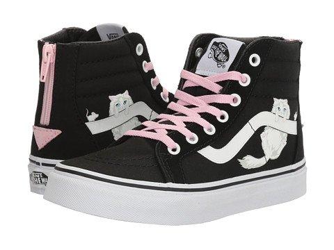 (VANS) VANS 키즈 스니커즈・구두 Sk8-Hi Zip (Little Kid/Big Kid) [병행수입품]- (Size:13.5 Little Kid (19-19.5cm) M|Color:(Hidden Kittens) Black/True White)