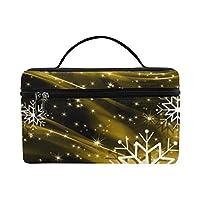 GSHCJ メイクボックス コスメ収納 化粧品収納ケース 大容量 収納ボックス 化粧品入れ 化粧バッグ 旅行用 メイクブラシバッグ 化粧箱 持ち運び便利 プロ用 雪の花