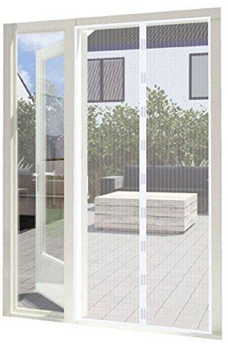 マンションドア玄用玄関網戸虫除けカーテン耐久性爽やかな風 (ホワイト100cm×230cm)