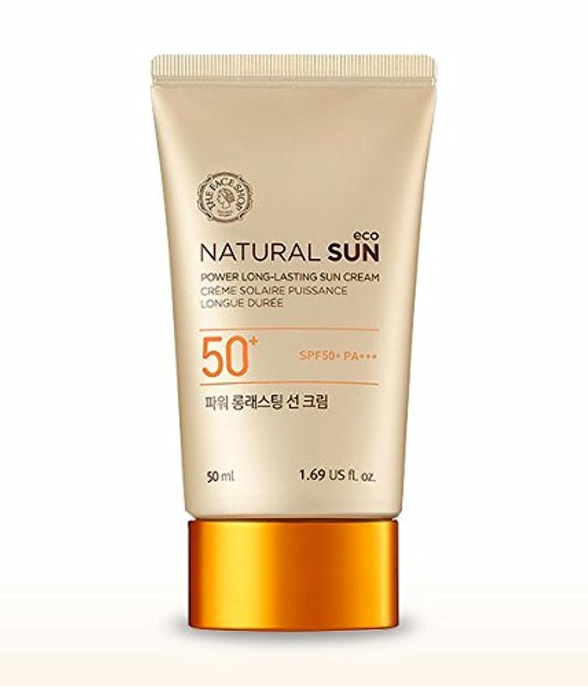 現実的窓を洗う属性THE FACE SHOP Natural Sun Eco Power Long Lasting Sun Cream 50mlザフェイスショップ ナチュラルサンパワーロングラスティングサンクリーム [並行輸入品]