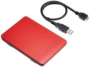 玄人志向 2.5インチ USB3.0接続 ハードディスクケース GW2.5TL-U3/RD