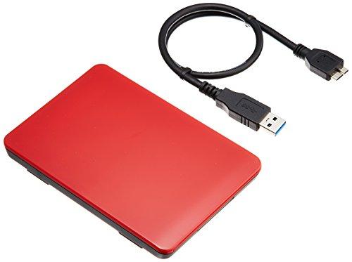 2.5インチ USB3.0接続 ハードディスクケース 玄人志向 GW2.5TL-U3/RD