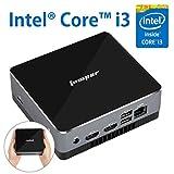 EZbox i3 ミニPC, Intel Core i3-5005U 【メモリ8GB+128GB SSD】手のひらサイズ便携PC 高効率パワー デスクトップパソコン 多ポート Win10搭載 無線+有線LAN Bluetooth