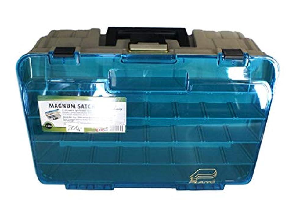 海峡ひもバルコニー把握PLANO タックルボックス ラップ型多用途ケース 2段 SBラック付 BEIGE/BLUE 1350-10
