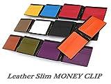 Legare マネークリップ 財布 革 16色 ブランド メンズ カード 人気 札入れ 誕生日 プレゼント にも最適 (Legareオリジナル化粧箱入りにてお送りします)
