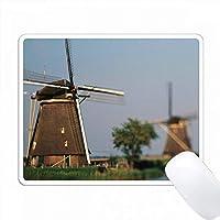 オランダ、南ホラント、Kinderdijk。風車の村。 PC Mouse Pad パソコン マウスパッド