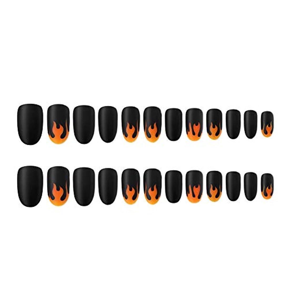 エンジニアリング言い換えると発行する人工爪のヒントの炎パターン塗装ネイルチップのフルカバーネイルのヒントネイル取り外し可能なマットな質感