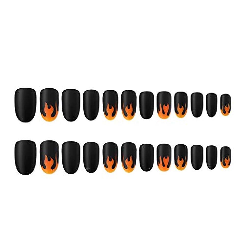 ブランド名立ち向かう回答人工爪のヒントの炎パターン塗装ネイルチップのフルカバーネイルのヒントネイル取り外し可能なマットな質感
