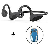 【Bluetooth5.0進化版】骨伝導イヤホン 内蔵マイクを搭載、ヘッドフォン bluetooth音楽を聴きながらジョキング、ハンズフリー電話機能付く、Z8超軽量スポーツヘッドホン (黑灰) (黑灰)