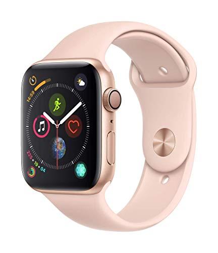 Apple Watch Series 4(GPSモデル)- 44mmゴールドアルミニウムケースとピンクサンドスポーツバンド