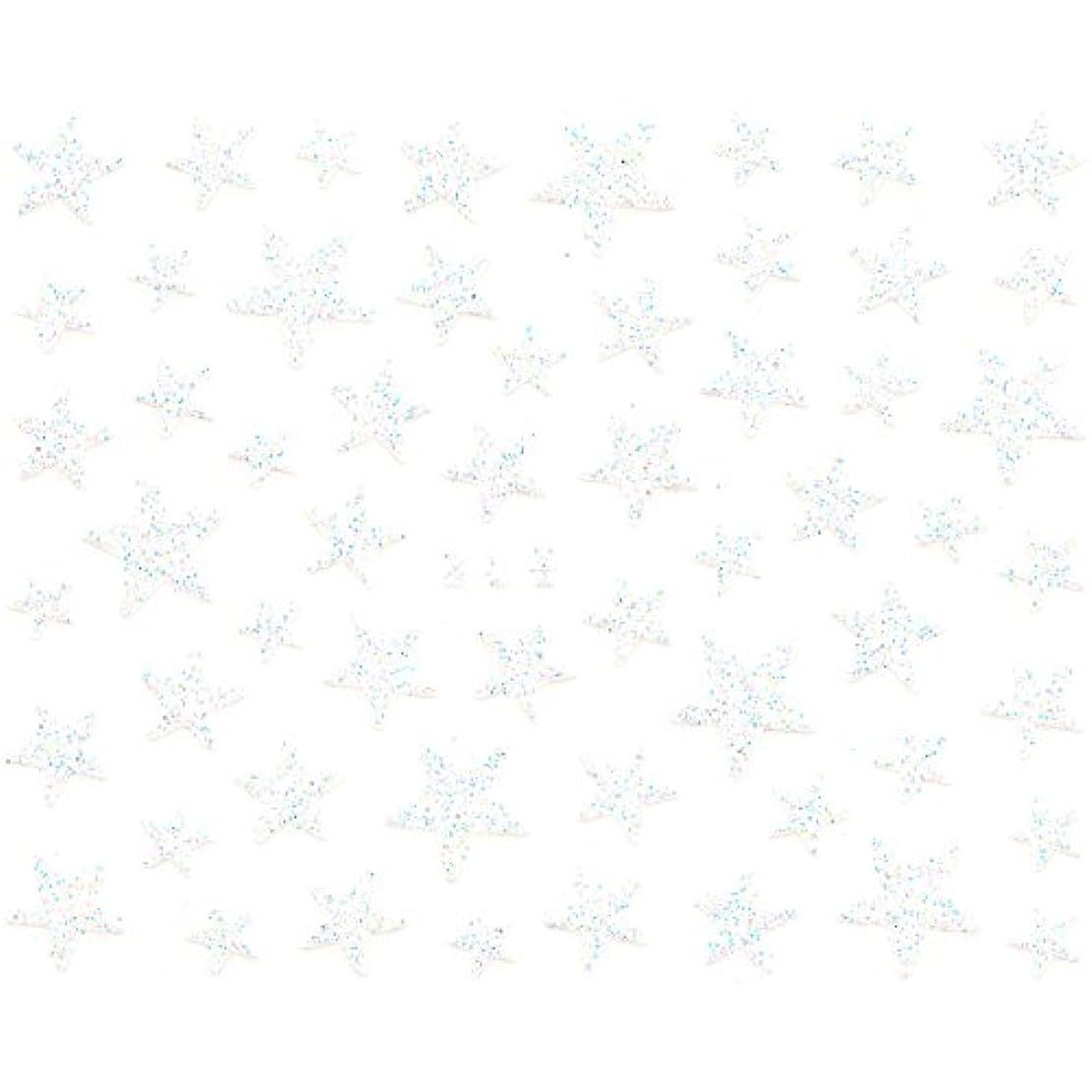 陰謀アンティーク予防接種するネイルシール ラメ スター 星 選べる10種類 (H-04/ホワイト)