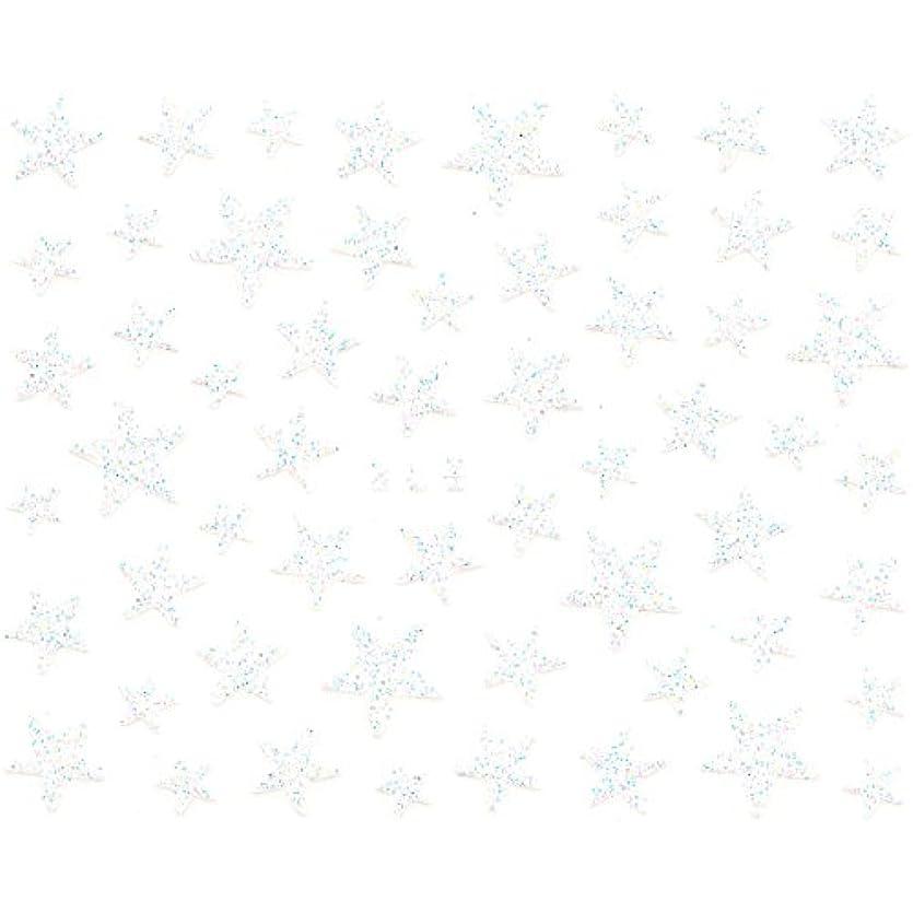 タックスカイ宣言ネイルシール ラメ スター 星 選べる10種類 (H-04/ホワイト)
