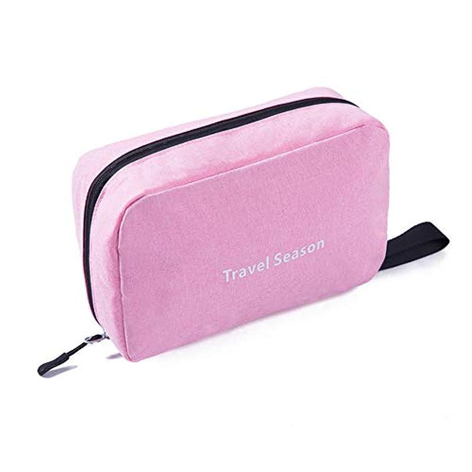 うがい座標アイロニーハンギングトイレタリーキットには、ハンドル男性女性(ピンク)で洗浄バッグポータブル化粧オーガナイザーバッグ旅行します