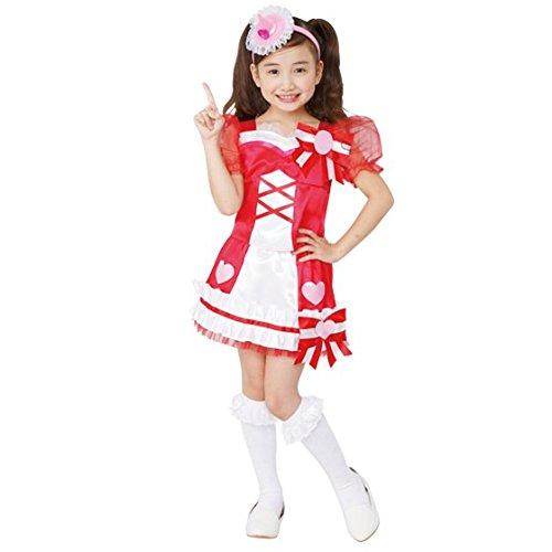 魔法つかいプリキュア! キュアミラクルルビー 変身プリチューム キッズコスチューム 女の子 95cm-115cm