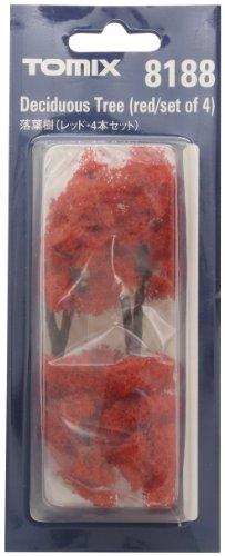TOMIX Nゲージ 8188 落葉樹 (レッド・4本セット)