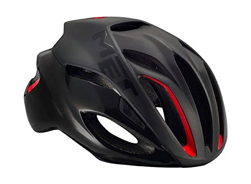 MET(メット) Rivale リヴァーレ HES ロードバイクヘルメット (matt/schwarz, L) [並行輸入品]