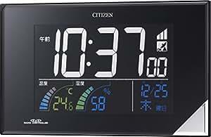 CITIZEN ( シチズン ) 電波 目覚まし 掛け ・ 置き 時計 パルデジットネオン119 カラー 液晶 ブラック 8RZ119-002