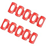 BAOBLADE 2pcs Red Silicone Fridge Can Beer Wine Bottle Rack Holder Mat Stacking Tool