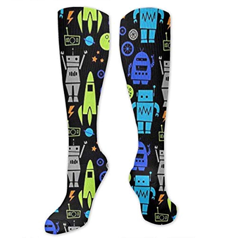 絶妙真っ逆さま不屈靴下,ストッキング,野生のジョーカー,実際,秋の本質,冬必須,サマーウェア&RBXAA Rockets Robots Socks Women's Winter Cotton Long Tube Socks Cotton...