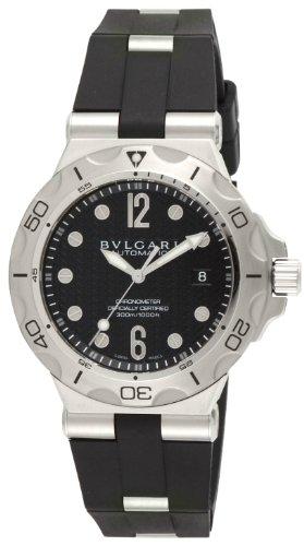 [ブルガリ]BVLGARI 腕時計 ディアゴノプロフェッショナル ブラック文字盤 ラバーベルト 自動巻 300M防水 DP42BSVDSD メンズ 【並行輸入品】
