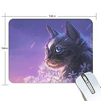 Anmumi マウスパッド 滑り止め ネコ柄 動物柄 猫 花柄 19×25×0.5cm ゲームに適用 かわいい オシャレ レディース メンズ 子供 ゴム 実用性 パソコン対応