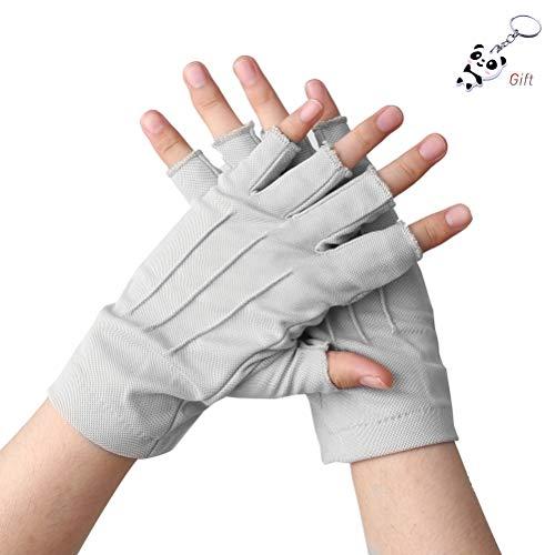 UVカット手袋 指なし 手袋 紫外線をしっかりガード 清涼メッシュ通気孔 運転 自転車 手を守る 滑り止め シ...