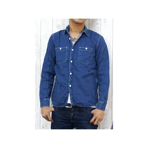 (スペルバウンド)SPELLBOUND ワークシャツ デニム ユーズドウォッシュ 46-025E 3 21-8ユーズドウォッシュ