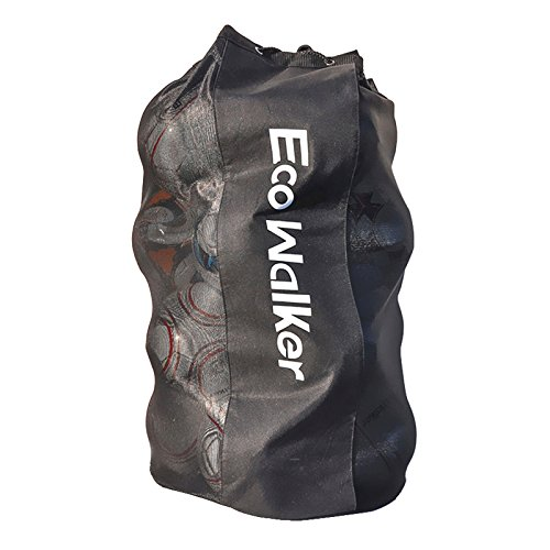 stationery Eco Walker ボールバッグ大容量(16個のサッカーボールを保持)ヘビーデューティーメッシュドローストリング、調節可能なショルダーストラップ、厚手ハンドル
