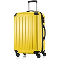 """Hauptstadtkoffer Alex Luggage Suitcase Hardside Spinner Trolley Expandable 24"""" TSA, Yellow, 65 Centimeters"""