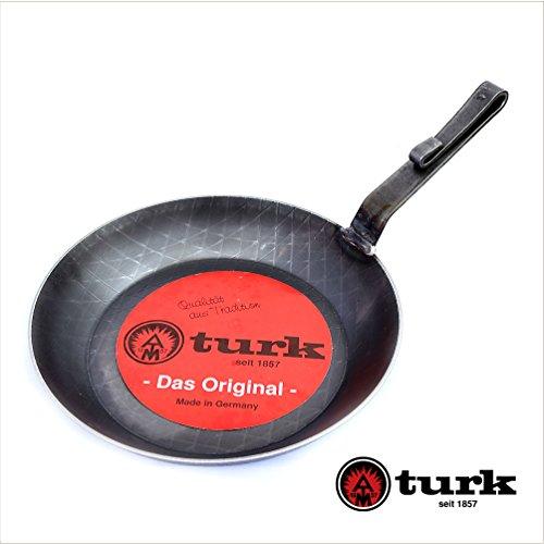 [turk/ターク]鉄製フライパン28cm(ベントハンドルタイプ)ロースト用深型タイプ (28cm深型)