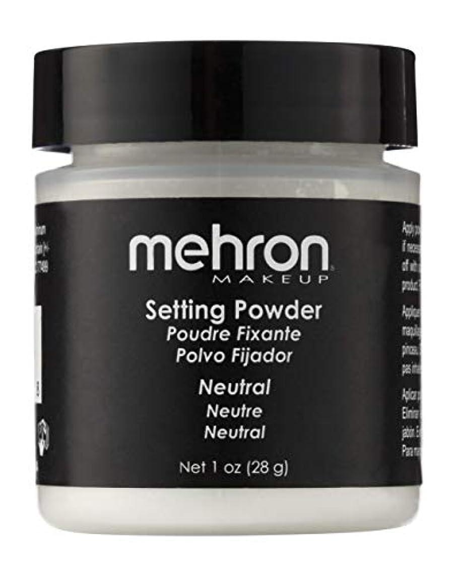戻るバクテリア気配りのあるmehron UltraFine Setting Powder with Anti Perspriant Neutral (並行輸入品)