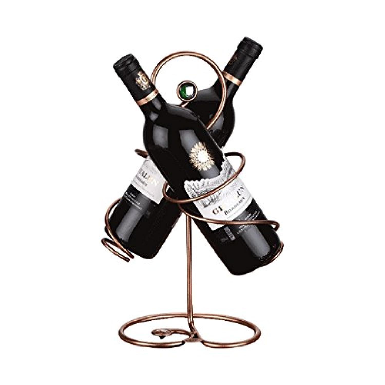 YD-Wine rack ワインラック、クリエイティブな工芸品、ファッションワインラック、2本のワインを入れることができますサイズ:23 Cm Long 35 Cm High #