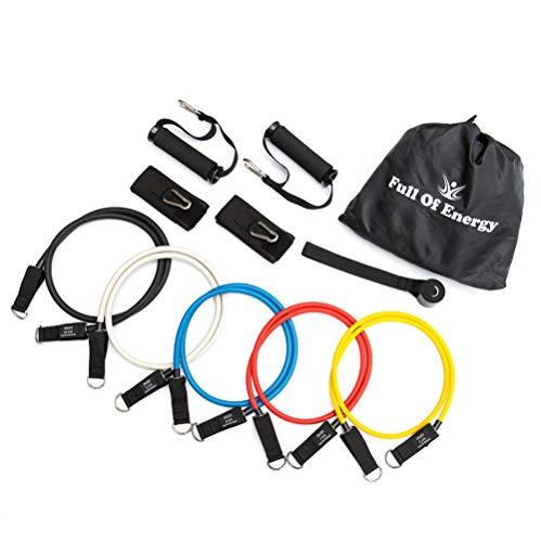 FOE トレーニングチューブ チューブ トレーニング 33種類のトレーニング種目の説明付き 高負荷 ゴムバンド 筋トレ フィットネス インナーマッスル エクササイズ 野球 サッカー 水泳 高品質版 日本企業企画