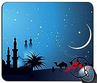 ZMvise暗い夜月背景ファッション漫画マウスパッドマットカスタム四角形ゲームマウスパッド