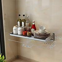 HUO 304ステンレス鋼キッチンラック壁掛け調味料電子レンジラック - マルチサイズオプション (色 : 27cm, サイズ さいず : 61.2cm)