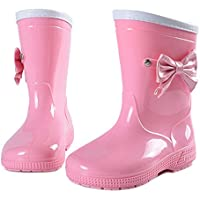 MEIGUIshop Rain Boots - Non-Slip Crystal Water Shoes Overshoe Butterfly rain Boots