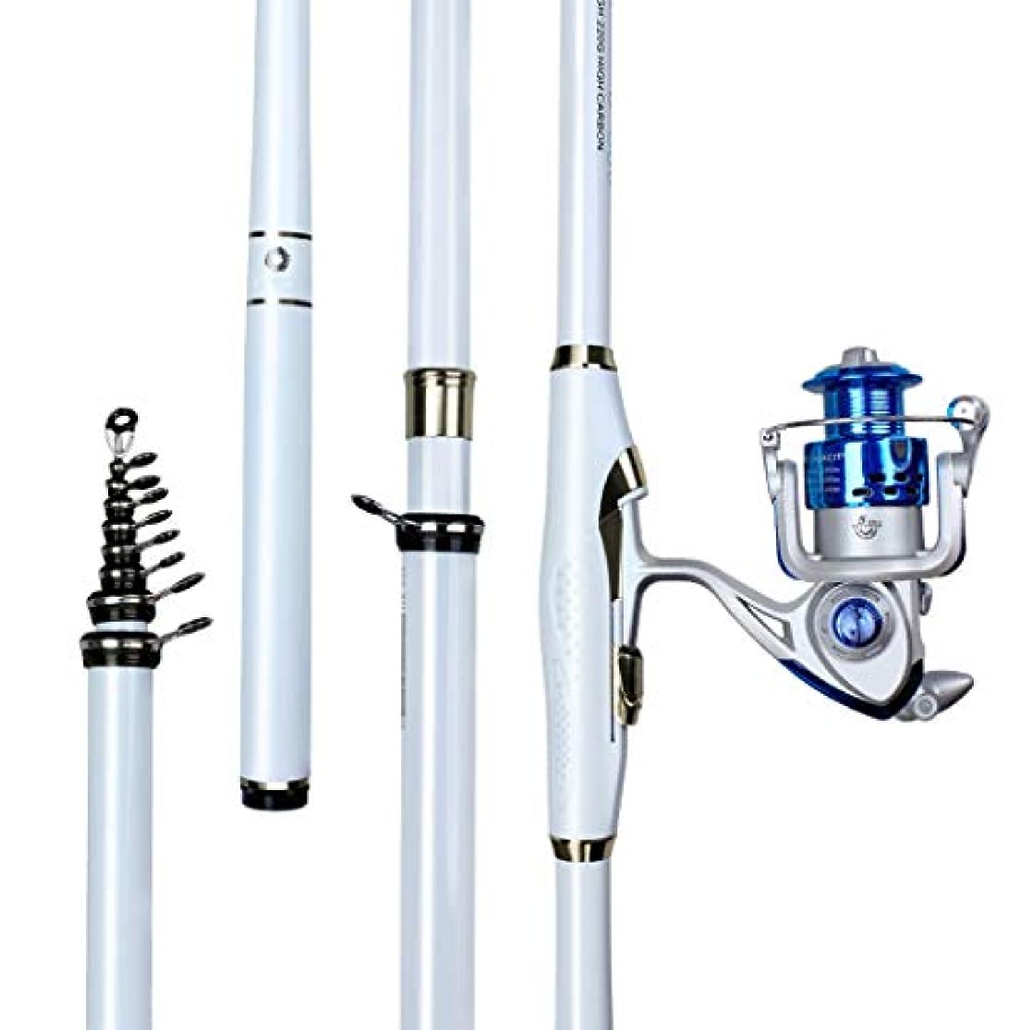女王衛星喉が渇いた釣り竿 - 超軽量スーパーハードカーボン釣りリールメタルガイドリング引き込み式淡水海釣りギア (サイズ さいず : 4.5m)