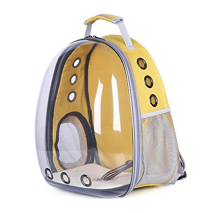 車両誇張する去るHOMESTAYDD 完全透明ビジュアルペットバックパックアウトポータブル通気性ショルダーペット用品猫バッグ犬バッグペットカプセル (Color : Yellow)