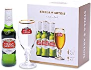 【Amazon.co.jp限定】 【オリジナルグラス付き】ステラアルトワ 瓶 [ 洋酒 ベルギー 330ml×4本 ] [ギフトBox入り]
