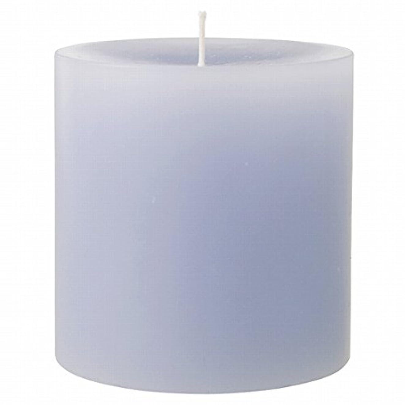 告白四半期航海カメヤマキャンドル(kameyama candle) 75×75ピラーキャンドル 「 グレー 」