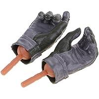 Dovewill  DIY用品 1/6スケール ラバー製 手袋 ハンド 12 インチ女性アクションフィギュアおもちゃ適用 修理用