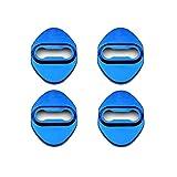 【LFOTPP 4枚セット】ホンダ 鏡面ステンレスストライカーカバー 4個SET(1台分)ドアロックカバー 4p (ブルー)