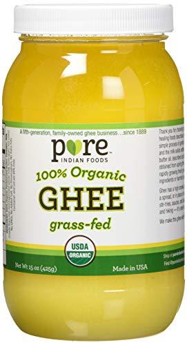 Indian Foods 100% Organic Ghee Clarified オーガニック 有機ギー 精製バター 425g