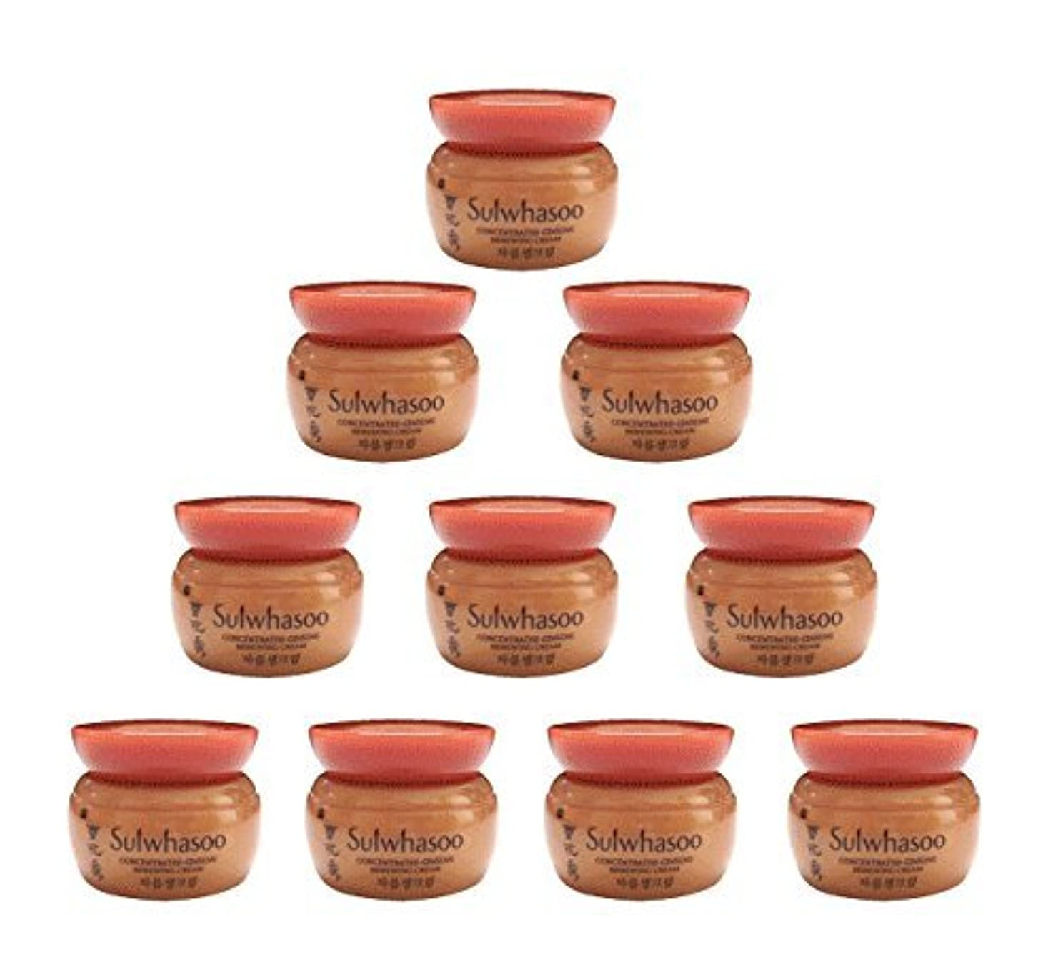つらい共感する文明化する【ソルファス 雪花秀 Sulwhasoo】 Concentrated Ginseng Renewing Cream(50ml) 5ml x 10個 韓国化粧品 ブランドのサンプル [並行輸入品]