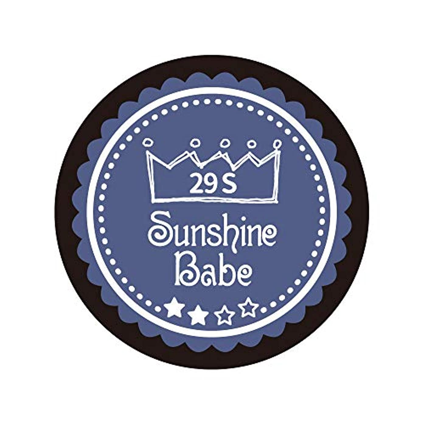 予防接種する荒涼とした知恵Sunshine Babe カラージェル 29S ネイビーグレー 2.7g UV/LED対応